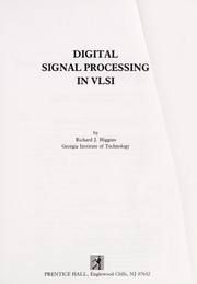 Cover of: Digital signal processing in VLSI | Richard J. Higgins