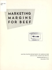 Cover of: Marketing margins for beef