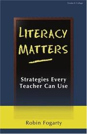 Cover of: Literacy Matters | Robin J. Fogarty