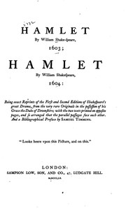 Cover of: Hamlet by William Shake-speare, 1603; Hamlet by William Shakespeare, 1604 |
