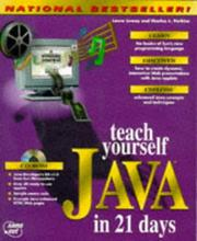 Cover of: Teach yourself Java in 21 days | Laura Lemay