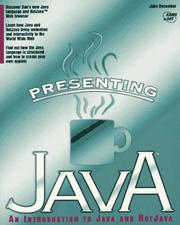Cover of: Presenting Java | John December