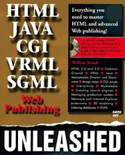 Cover of: Web publishing unleashed: HTML, CGI, SGML, VRML Java