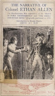 Cover of: The narrative of Colonel Ethan Allen