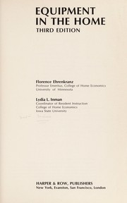 Cover of: Equipment in the home | Florence Ehrenkranz