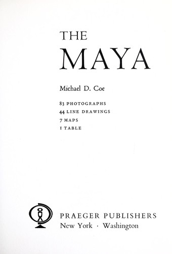 The Maya by Michael D. Coe