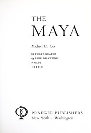 Cover of: The Maya | Michael D. Coe