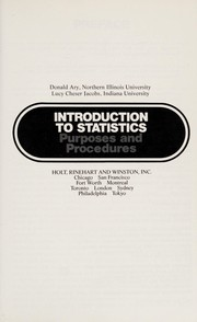 Cover of: Introduction to statistics | Donald Ary