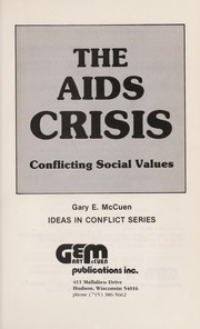 Cover of: The AIDS crisis |