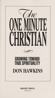 Cover of: The one minute Christian