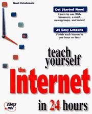 Cover of: Teach yourself the Internet in 24 hours | Noel Estabrook