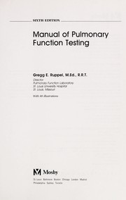 Manual of pulmonary function testing