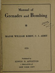 Cover of: Manual of grenades and bombing
