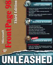 Cover of: Microsoft FrontPage 98 Unleashed (Unleashed)