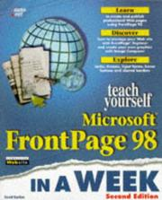 Cover of: Teach yourself Microsoft FrontPage 98 in a week | David Karlins