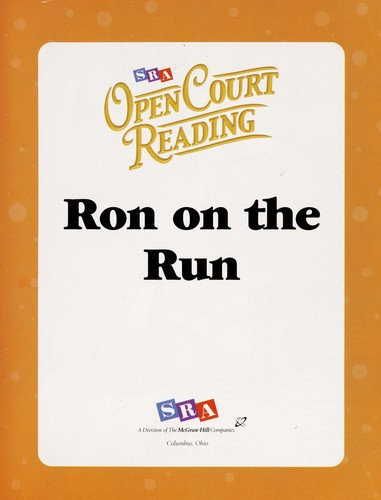 Ron on the run by Alice Cary