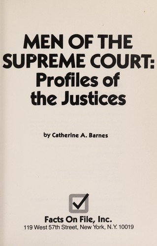 Men of the Supreme Court by Catherine A. Barnes