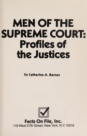 Cover of: Men of the Supreme Court | Catherine A. Barnes