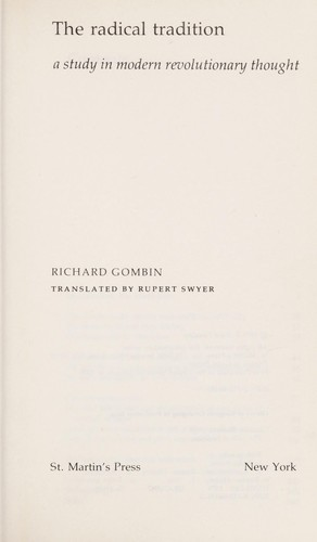 The radical tradition by Richard Gombin