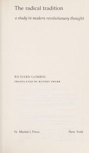Cover of: The radical tradition | Richard Gombin