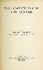 Cover of: The adventures of Tom Sawyer | Mark Twain