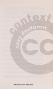 Cover of: Context | Cory Doctorow
