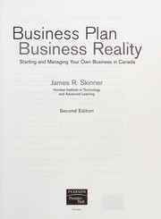Cover of: Business plan, business reality | Skinner, James R. (James Ross)