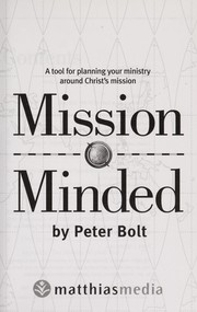 Cover of: Mission minded