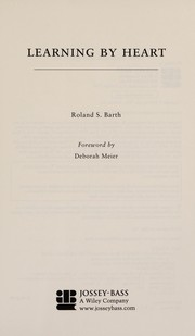 Cover of: Learning by heart | Roland S. Barth