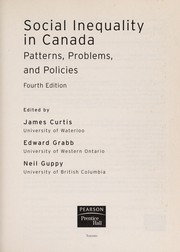 Cover of: Social inequality in Canada