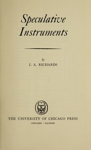 Cover of: Speculative instruments