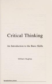 Cover of: Critical Thinking | William Hughes
