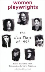 Cover of: Women Playwrights The Best Plays of 1998