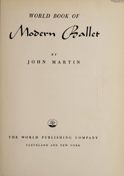 Cover of: World book of modern ballet