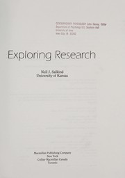 Cover of: Exploring research | Neil J. Salkind