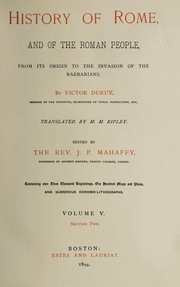 Cover of: History of Rome, and of the Roman people