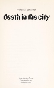 Cover of: Death in the City | Francis A. Schaeffer