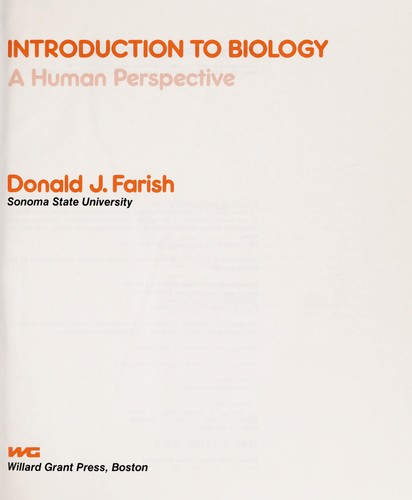 Introduction to biology by Donald J. Farish