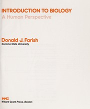 Cover of: Introduction to biology | Donald J. Farish