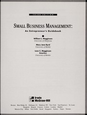 Cover of: Small business management | William L. Megginson