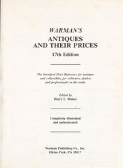 Cover of: Warman's Antiques and Their Prices