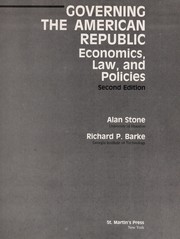 Cover of: Governing the American republic | Alan Stone