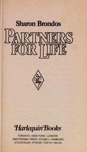 Cover of: Partners for Life | Sharon Brondos