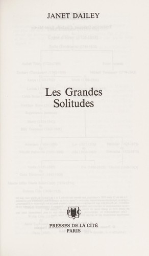 Les Grandes Solitudes by