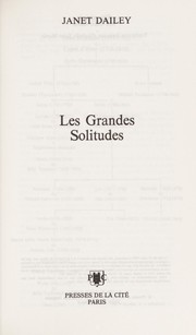 Cover of: Les Grandes Solitudes |