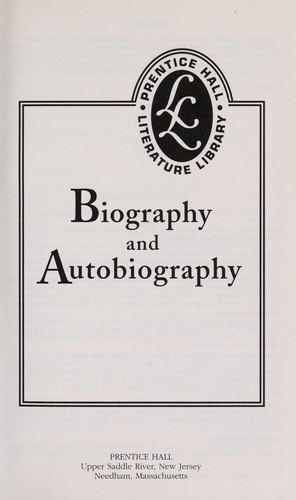 Biography and Autobiography by