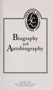 Cover of: Biography and Autobiography |