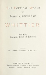 Cover of: The poetical works of John Greenlead Whittier | John Greenleaf Whittier