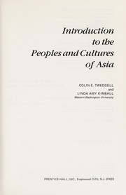 Cover of: Introduction to the peoples and cultures of Asia