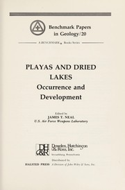 Cover of: Playas and dried lakes | James T. Neal